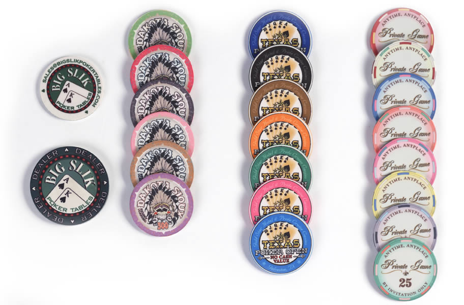 Poker Chips - Big Slik Poker Tables